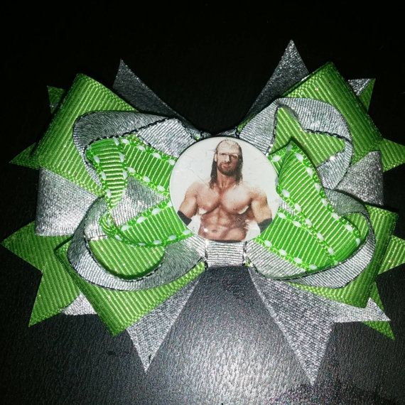 Check out this item in my Etsy shop https://www.etsy.com/listing/233242197/wwe-wrestling-triple-h-dx-hair-bow-with