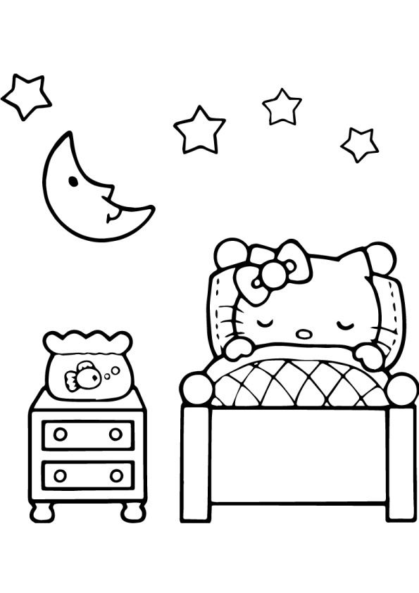 Hello Kitty With Gift Box Coloring Page Hello Kitty Colouring Pages Kitty Coloring Cat Coloring Book