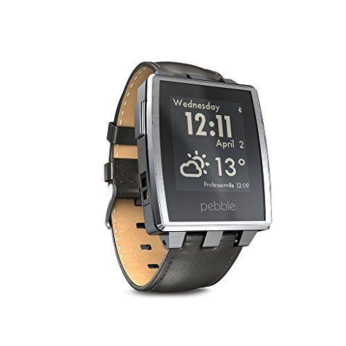 Pebble Steel Smart Watch for iPhone and Android Devices (Brushed Stainless) Pebble http://www.amazon.com/dp/B00KVHEL8E/ref=cm_sw_r_pi_dp_mcn2tb1ETXVFMK4W