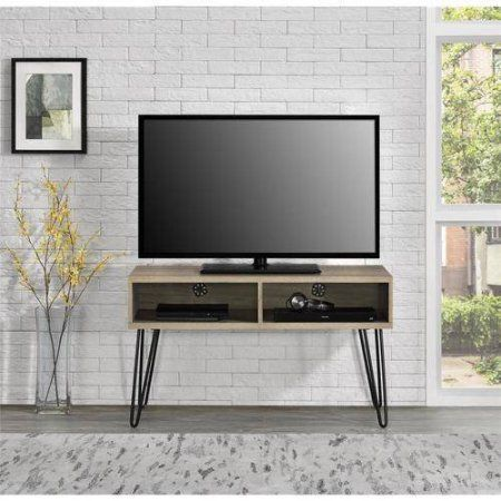 Mainstays Retro TV Stand for TVs up to 42 inch wide, Multiple Colors, Red