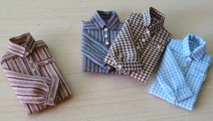 how to: folded men's shirts