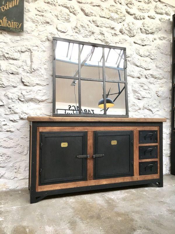 Exemple Fabrication meuble metal et bois