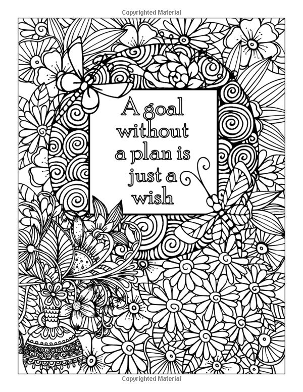 adult coloring pages inspirational quotes | Amazon.com: Tough Times Never Last Inspirational Coloring ...