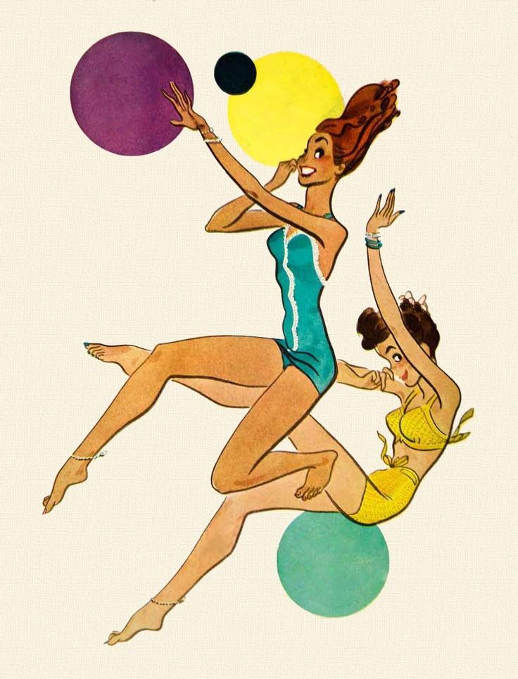 Jantzen Swimsuits - art by Earl Hurst