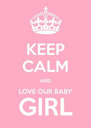 Keep Calm and Baby Girl - Geboortekaartjes - Kaartje2go