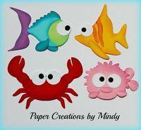Craftecafe Mindy aquarium ocean sea fish premade paper piecing for scrapbook