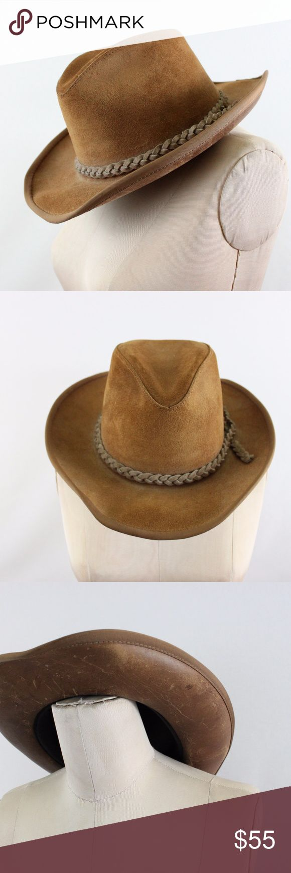 Vintage leather cowboy hat | XL Excellent vintage leather cowboy hat  XL Accessories Hats