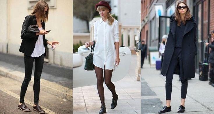 Frauen-Oxfords - ein Klassiker in einer modernen Art und Weise | Mode