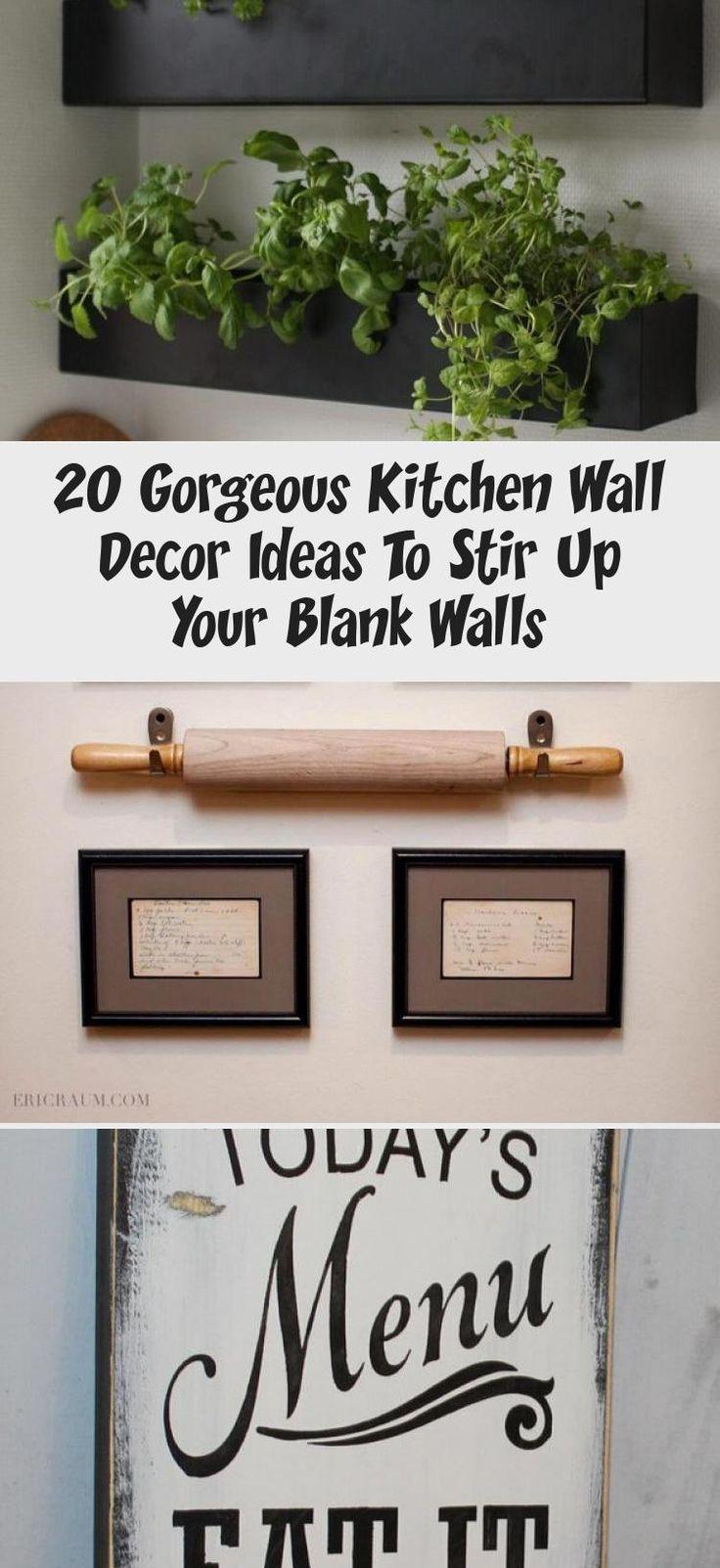20 gorgeous kitchen wall decor ideas to stir up your blank walls in 2020 kitchen wall decor on kitchen decor wall ideas id=72144