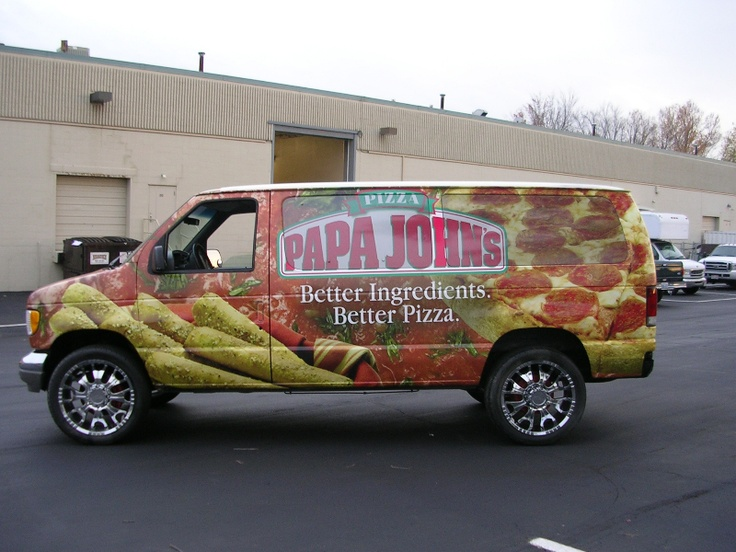 Get Paid For Car Wrap Advertising: Papa John's Pizza Vehicle Wrap