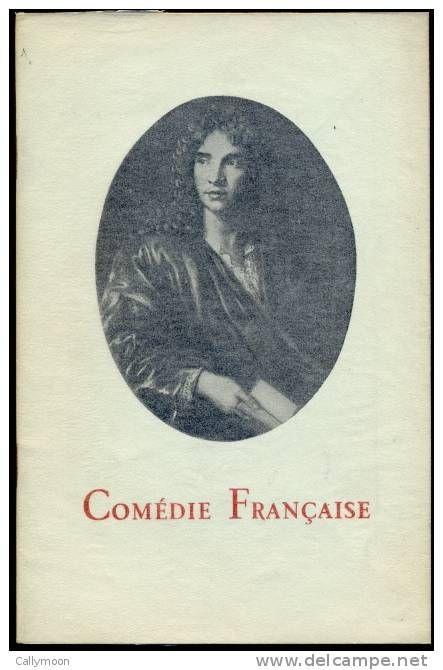 Comédie Française - Programme du 16 janvier 1957. - Le demi-monde d'Alexandre Dumas fils