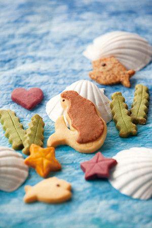 mermaid under the sea life cookies