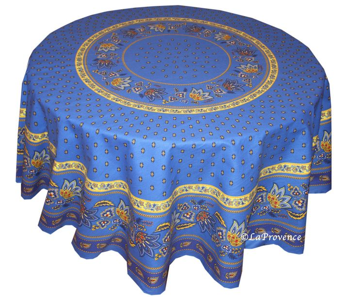 "70"" Round Provence Tablecloth: Lisa Blue"