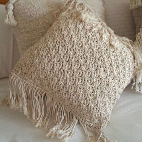 New macrame pillows . Check out all our different patterns now