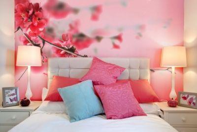 фотообои, спальня, цветы