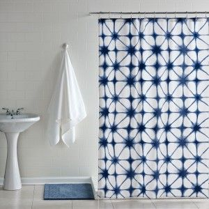 Indigo Tie Dye Shower Curtain - Shower Curtains - Bath - Living