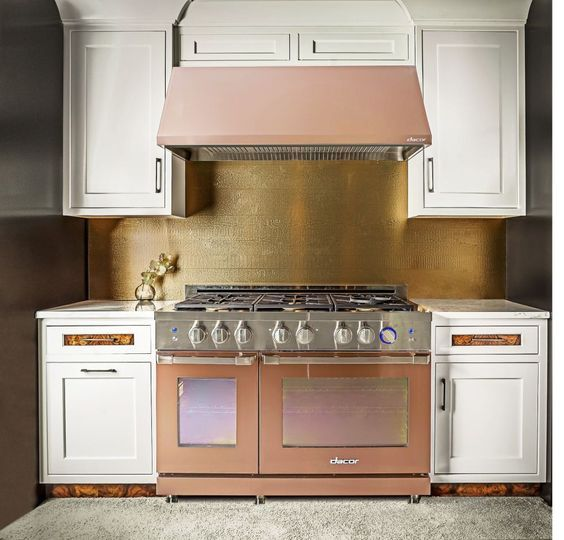 rose gold or copper kitchen appliances