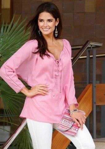 Blúzka s originálnou lemovkou #ModinoSK #pink #pastels