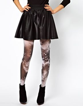 Galaxy tights - cool or diseased-looking?  Can't decide.