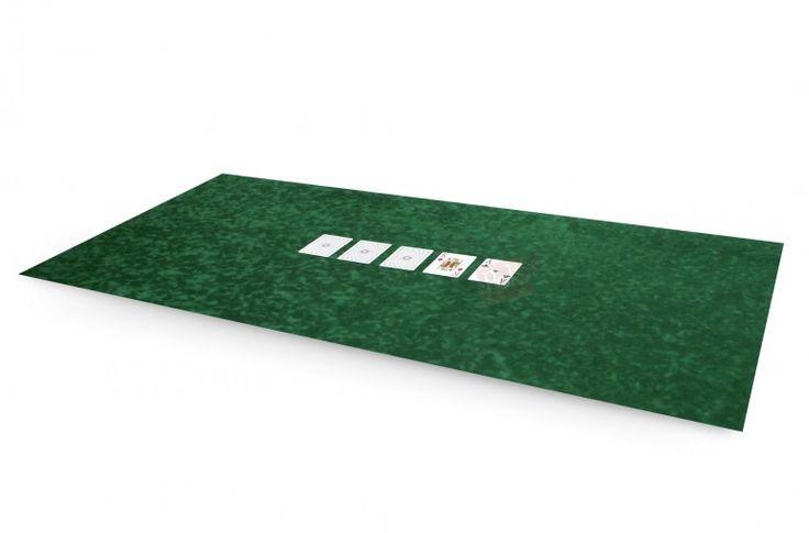 Tapis de poker 120x60 en suédine (vert) - Pokeo.fr - Tapis de poker 120x60 en suédine bulgommée de couleur verte.