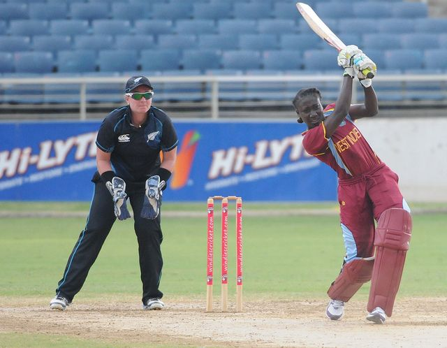 Stafanie Taylor in action -. West Indies v. New Zealand