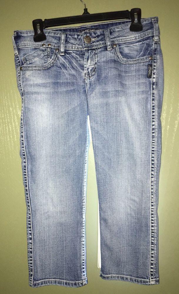 Women's Silver Jeans Mckenzie Capri Style Cropped Light Wash    eBay