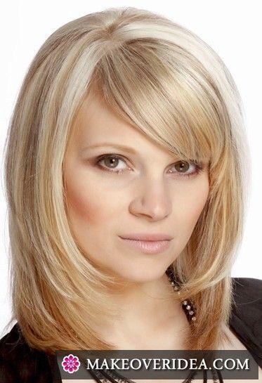 Волосы средней длины - фото