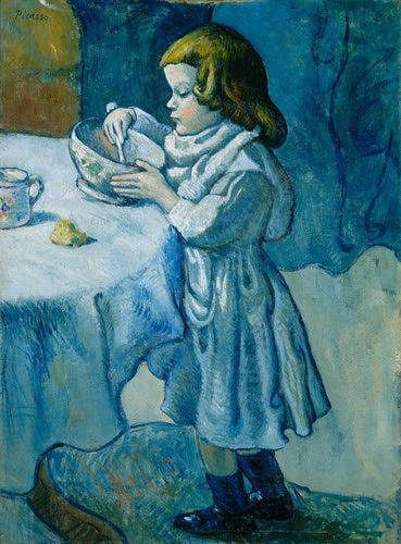 Pablo Picasso (Spanish, 1881-1973). Le Gourmet, 1901. Oil on canvas. 36 9/16 x 26 7/8 in. (92.8 x 68.3 cm). Chester Dale Collection. National Gallery of Art, Washington, D.C.