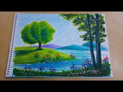 Pastel Boya Manzara 4 Youtube Cizimler Resim Suluboya