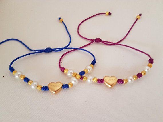 Mother Bracelets #etsyshop #etsy #takkaibykarina #bijouxfantaisie #bijouxcreateur #handmade #mom #cordbracelets #bohobracelets #bohemian #redbracelets #musthave #mexican #pearls