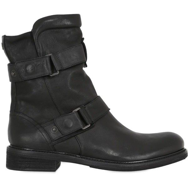Matchless London Men Wild One Zip-up Leather Biker Boots (2,700 CNY) ❤ liked on Polyvore featuring men's fashion, men's shoes, men's boots, black, mens monk strap shoes, mens leather shoes, mens leather boots, mens black shoes and mens leather biker boots