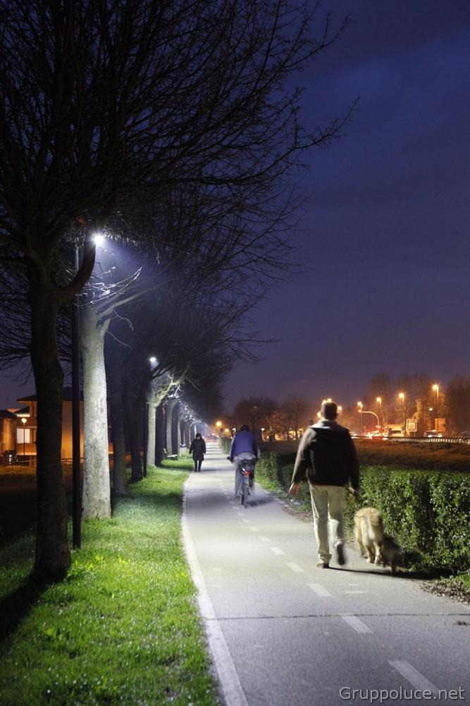 Comune di Rovigo progettazione illuminazione pista ciclabile- Gruppo Luce