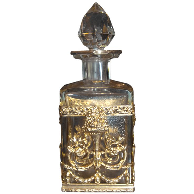 Antique French  Perfume Bottle | From a unique collection of antique and modern decorative objects at https://www.1stdibs.com/furniture/more-furniture-collectibles/decorative-objects/