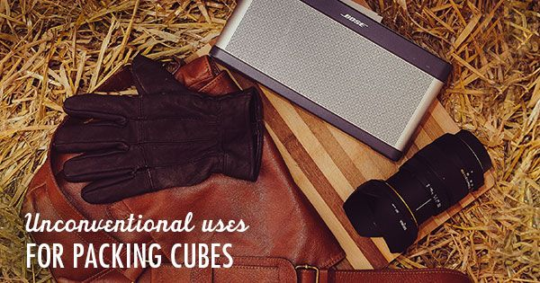 Want to use packing cubes, but can't figure out unique ways to make them work for you? Here's a post with some unconventional uses for packing cubes to help you travel.