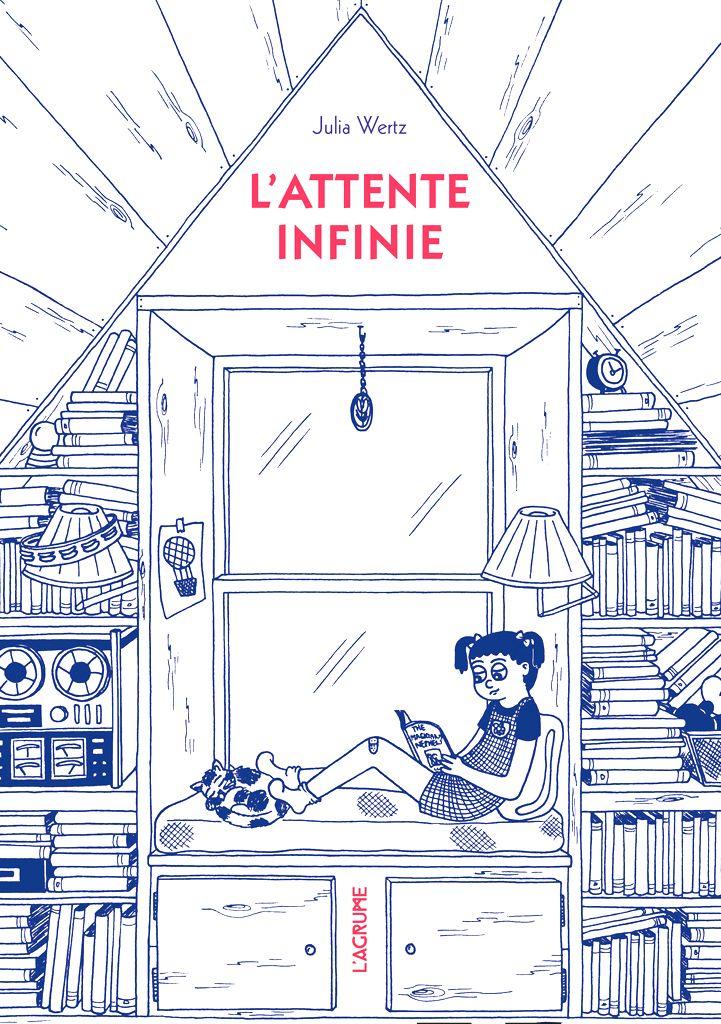 Julia Wertz  On pourrait dire de L'Attente infinie qu'il s'agit d'un livre autobiographique puisque dans cet épais volume, Julia Wertz nous livre un récit de vie très personnel. Mais sa force tient avant tout dans la virtuosité de son écriture, à la fois cinglante et hilarante, bourrée d'humour et d'autodérision.