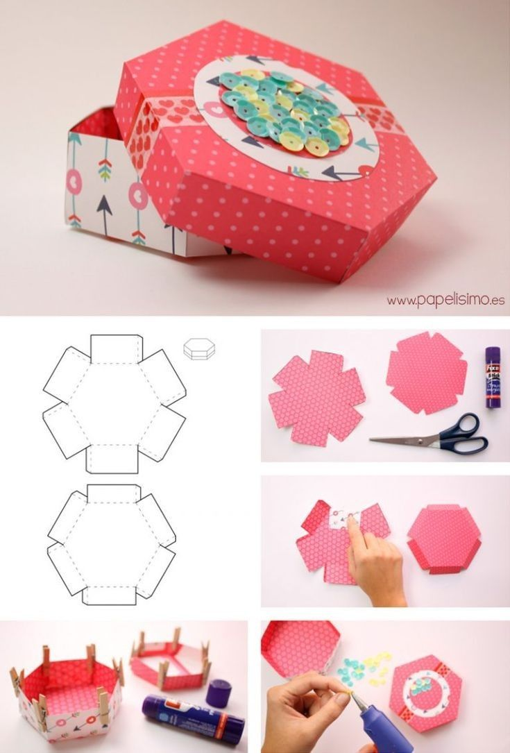 Paper Gift Box Printable Template Design Free And Step By Step Instructions In 2020 Gift Box Template Diy Gift Box Diy Anniversary Gift