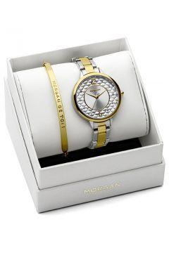 Set Morgan Damen-Uhren und armband Edelstahl Gold https://modasto.com/kadin-aksesuar-taki-saat/ct34 #saat