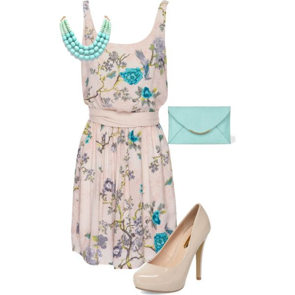 Summer Wedding Outfit-not sure about the shoes but love the dress!