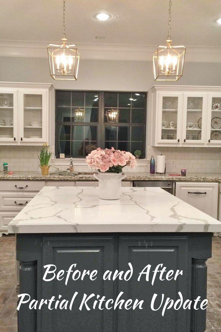 Before And After Partial Kitchen Update Kitchen Remodel Small Updated Kitchen Budget Kitchen Remodel
