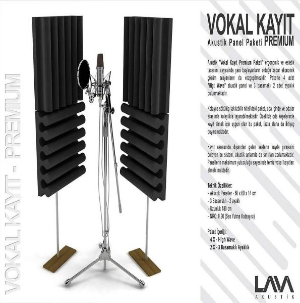 Vokal Kayıt Premium Akustik Panel Paketi www.muzikenstrumani.com #lavaakustik #lava #akustik #acoustic #acustic #panel #music #akustikdüzenleme