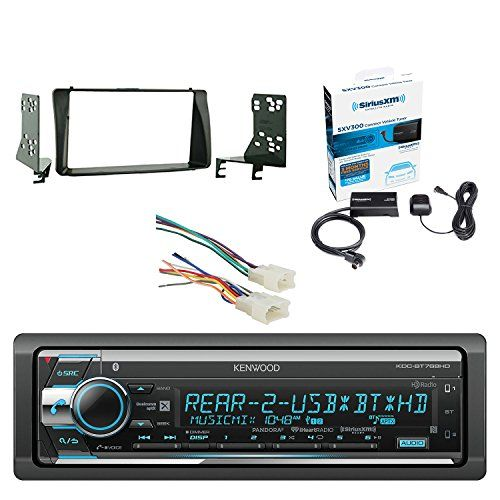 Kenwood Single Din CD/AM/FM Car Audio Receiver with Built-In Bluetooth SiriusXM Satellite Radio Vehicle Tuner Kit, Metra Radio Wiring Harness For Toyota 87-Up Power 4Speaker & Metra Installation Kit. For product info go to:  https://www.caraccessoriesonlinemarket.com/kenwood-single-din-cdamfm-car-audio-receiver-with-built-in-bluetooth-siriusxm-satellite-radio-vehicle-tuner-kit-metra-radio-wiring-harness-for-toyota-87-up-power-4speaker-metra-installation-k/