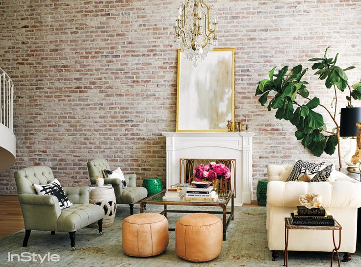 Inside Lauren Conrad's Beverly Hill Penthouse - The Fireplace from #InStyle