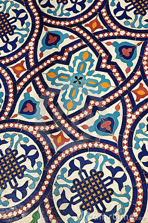 Moroccan mosaic tilework by Daniel Gilbey, via Dreamstime…something unique for our small bathroom, look great with all white everything else.
