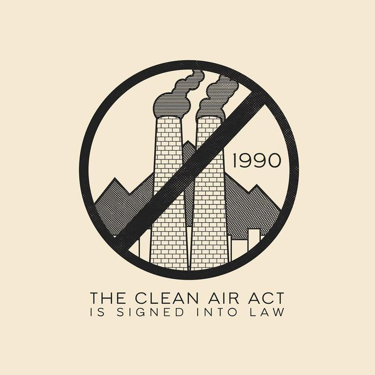 This Day In History - Nov 15 - 1990 - The Clean Air Act (of 1990) is signed into law by George H. Bush.⠀ ⠀ --⠀ #thisdayinhistory #todayinhistory #history #tdih #cleanairact #pollution #antipollution #clean #EPA #legislation #minimal #president #Georgehbush #illustration #365peojct #adobe #vector #pattern #simple #instagood #art #instaart #badge #texture #minimalism #minimalist