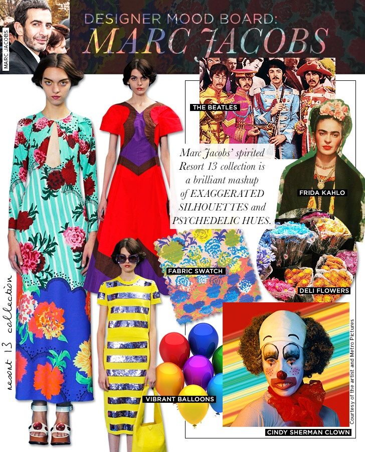 I love peeking into the world of other Fashion Designers ~ Marc Jacobs Mood Board for RE13