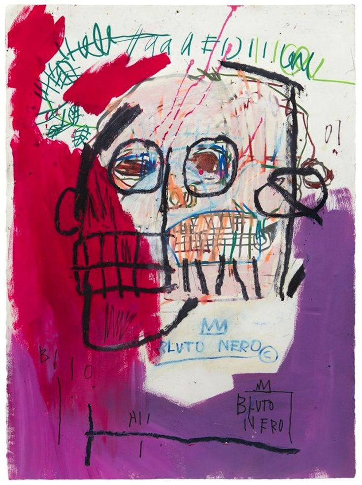 Jean-Michel Basquiat, Untitled (Bluto Nero), 1982, More Pins Like This At FOSTERGINGER @ Pinterest