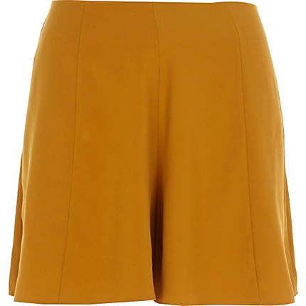 Mustard yellow smart shorts $56.00