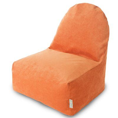 Viv + Rae Classic Bean Bag Lounger Upholstery: Orange