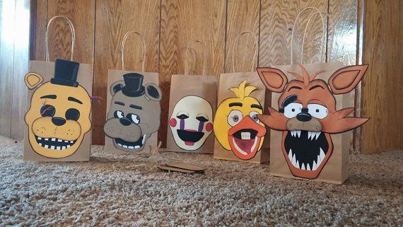 Five Nights At Freddy's Birthday Gift Bags by ConnieHertzCraftz