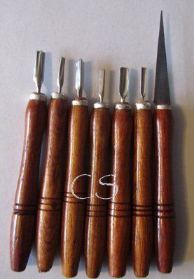 7 Pc Soap Carving Knives Set by KP Mart. $13.00. detail knives & tools. made for soap carving. wooden handle. Thai knives. Thai carving tools. Fruit and Vegetable Carving Brass & Stainless Steel Knives Wood Handle Handmade Product of Thailand.